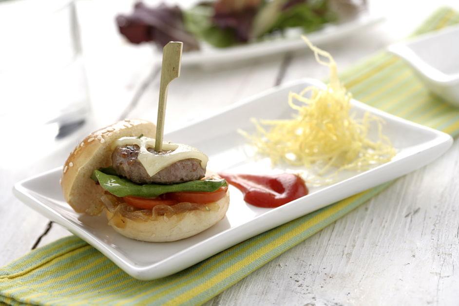 Mini hamburguesas de cordero con pan de semillas