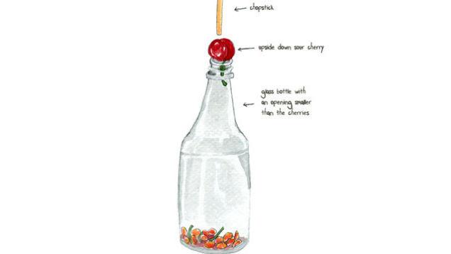 Truco botella palillo y hueso