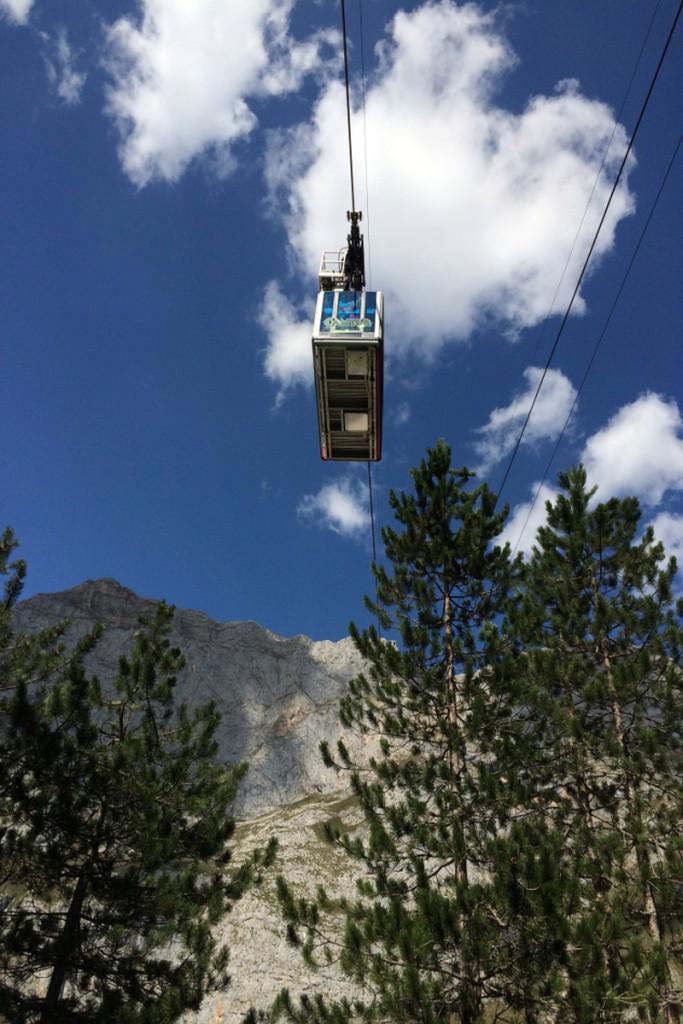 Teleférico de Fuente Dé - Vista de la cabina