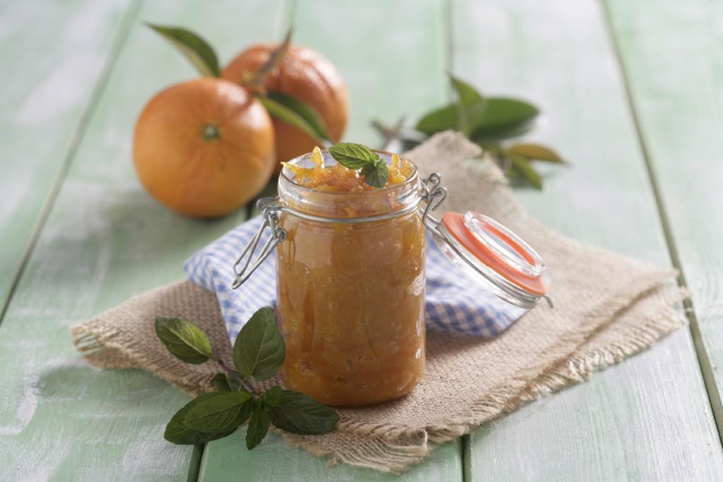 mermelada casera de naranja y menta