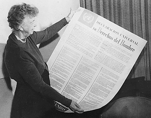 Eleanor Roosevelt Carta Derechos Humanos