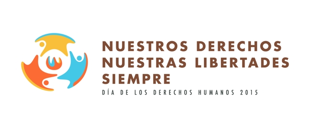 Logo Día Internacional de los Derechos Humanos 2015 Castellano