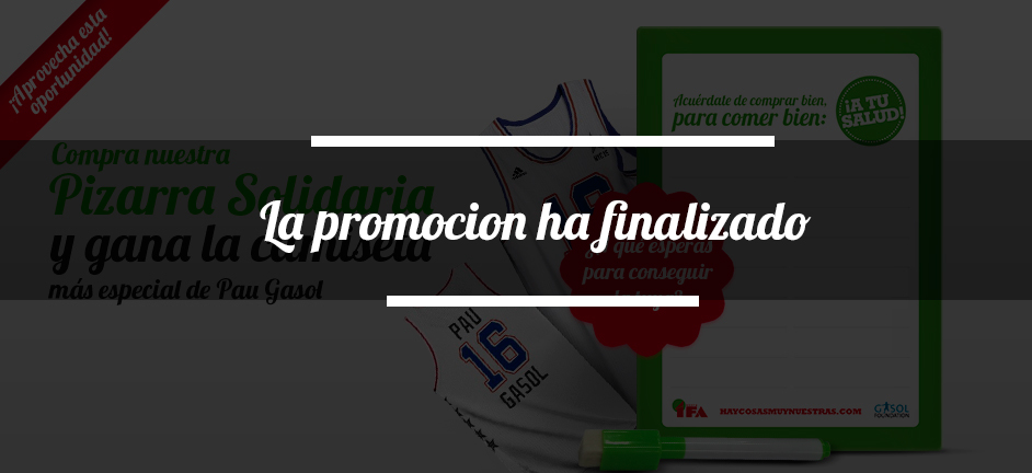 UNA PIZARRA SOLIDARIA Y UNA CAMISETA DE LEYENDA