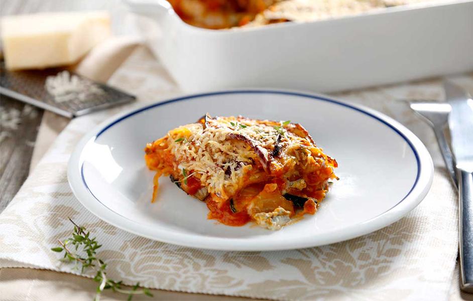 Musaca de verduras con queso gorgonzola