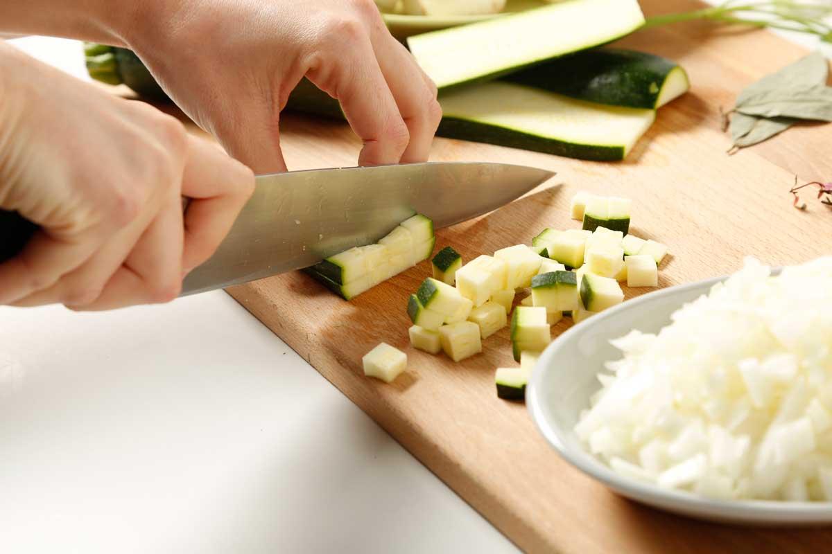 Cortamos las verduras.