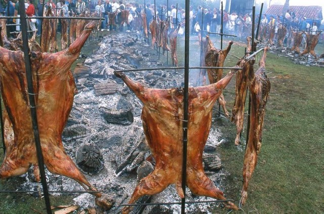 Fiesta del cordero en Asturias
