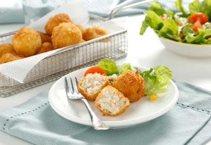 Bolitas de pollo asado con cebollita
