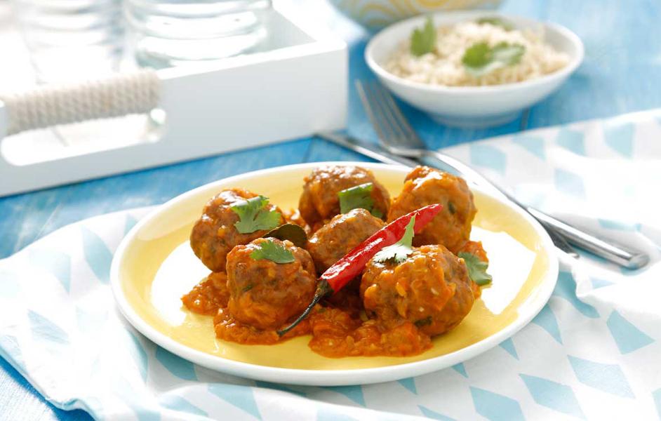 Curry de albóndigas